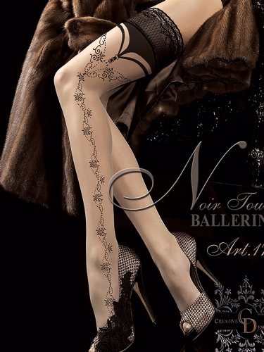 Ballerina Hold Ups with Faux Suspender